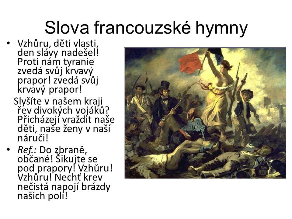 Slova francouzské hymny