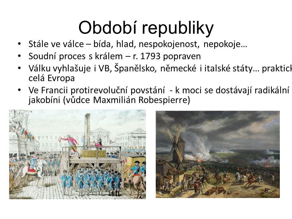 Období republiky Stále ve válce – bída, hlad, nespokojenost, nepokoje…