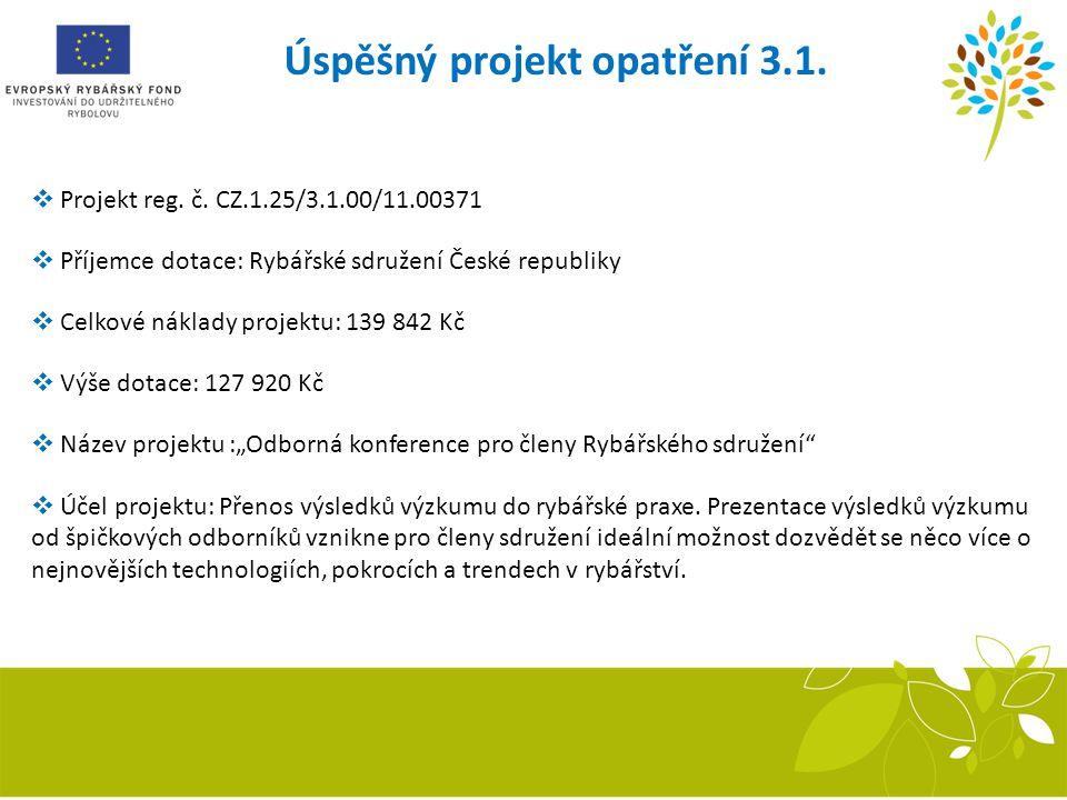 Úspěšný projekt opatření 3.1.