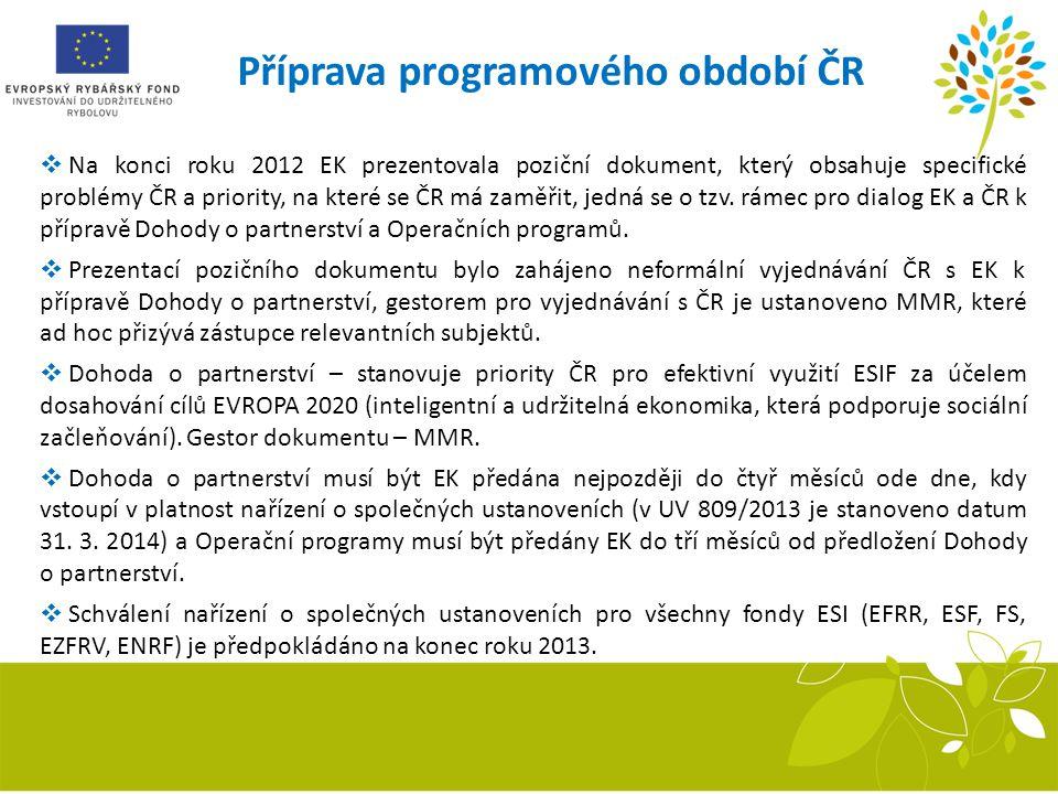 Příprava programového období ČR