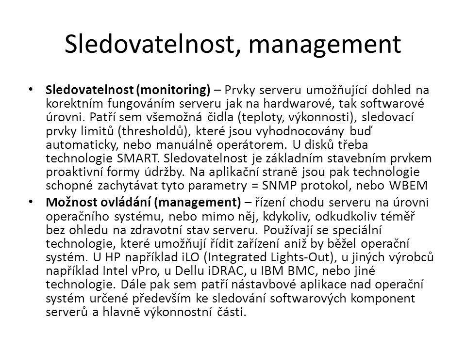 Sledovatelnost, management