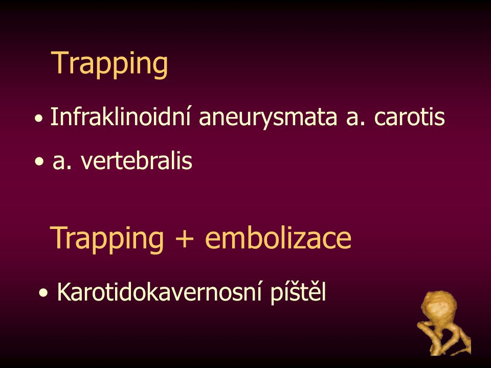 Trapping Trapping + embolizace a. vertebralis