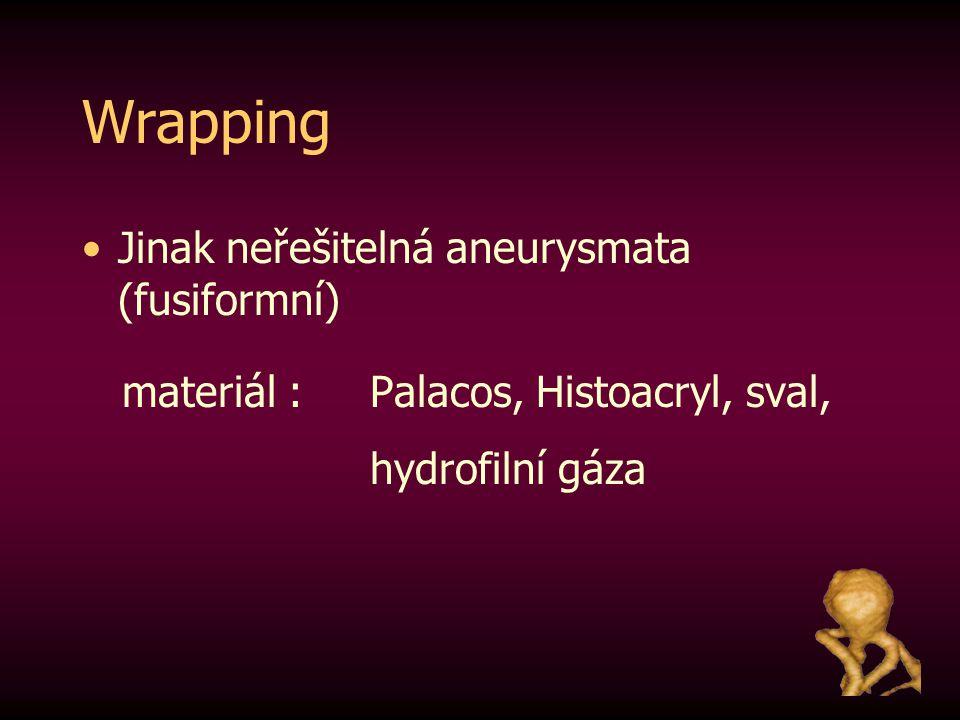 Wrapping Jinak neřešitelná aneurysmata (fusiformní)