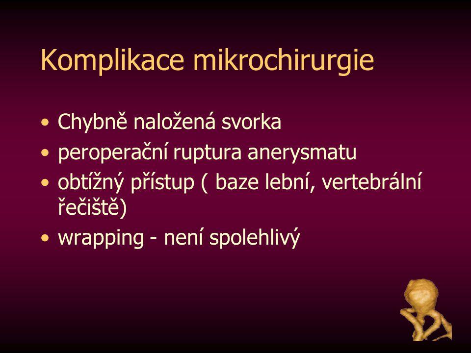 Komplikace mikrochirurgie