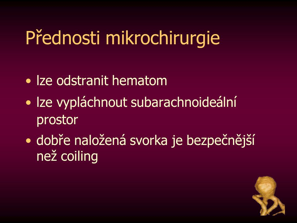 Přednosti mikrochirurgie