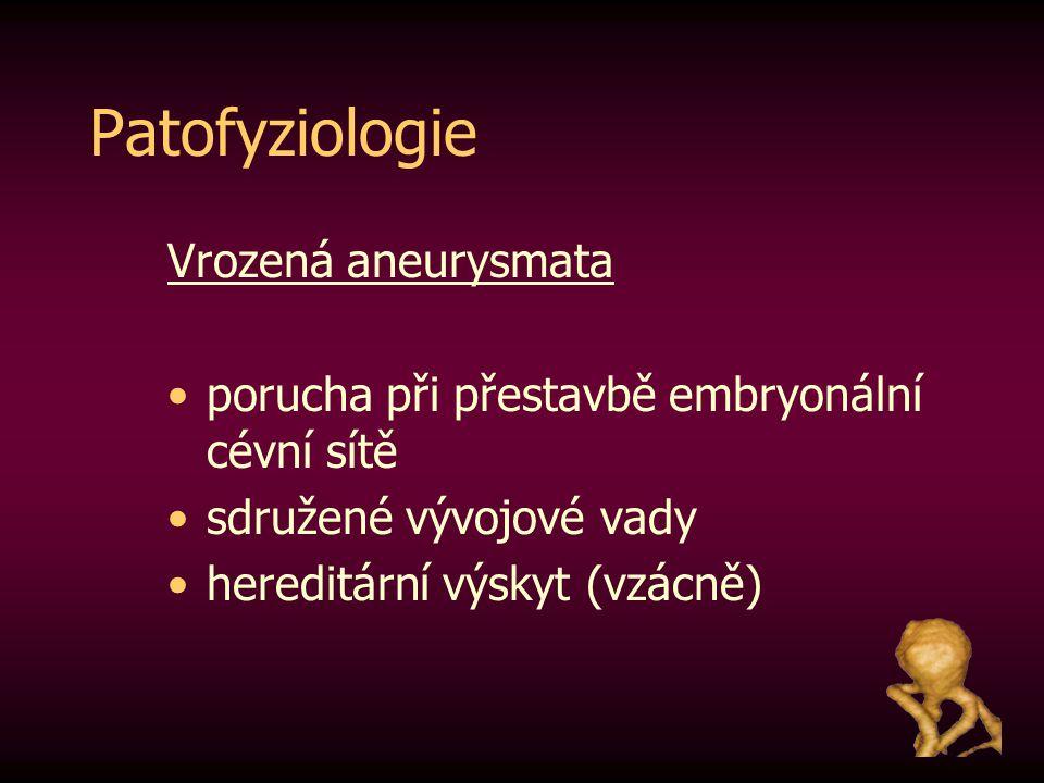 Patofyziologie Vrozená aneurysmata