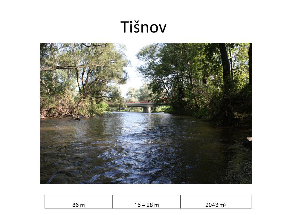 Tišnov 86 m 15 – 28 m 2043 m2
