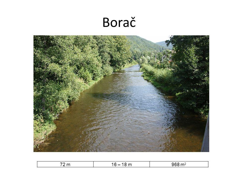 Borač 72 m 16 – 18 m 968 m2