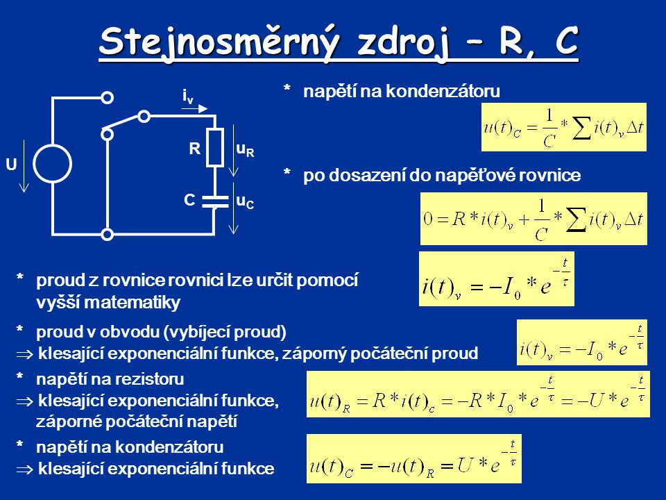 Stejnosměrný zdroj – R, C