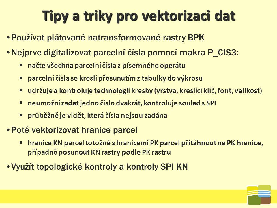 Tipy a triky pro vektorizaci dat