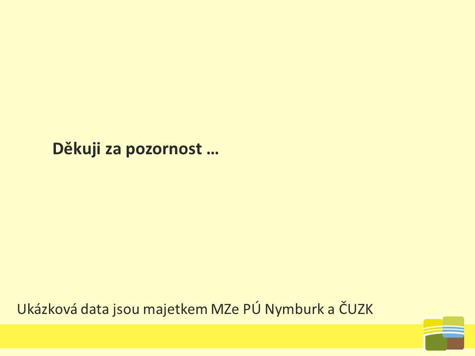 Děkuji za pozornost … Ukázková data jsou majetkem MZe PÚ Nymburk a ČUZK