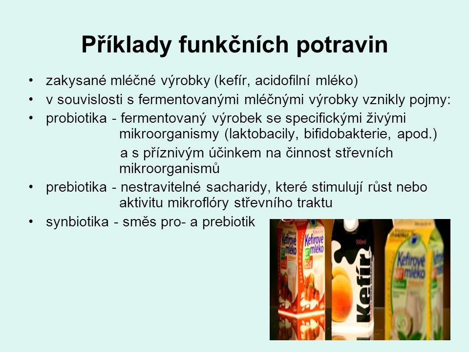 Příklady funkčních potravin
