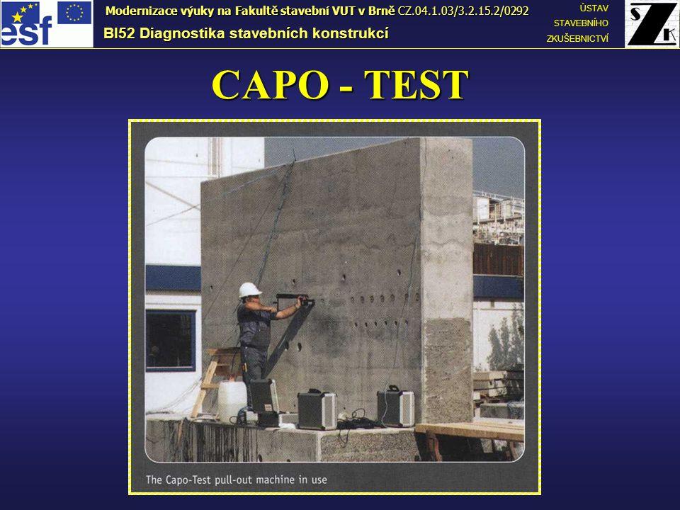 CAPO - TEST BI52 Diagnostika stavebních konstrukcí