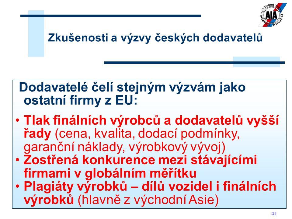 Zkušenosti a výzvy českých dodavatelů