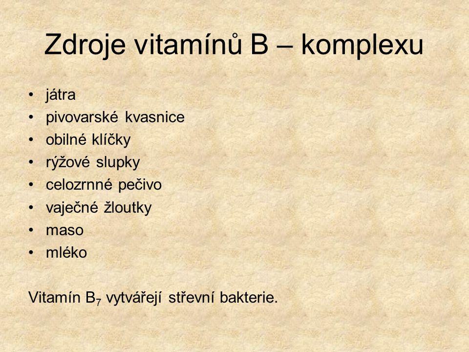 Zdroje vitamínů B – komplexu