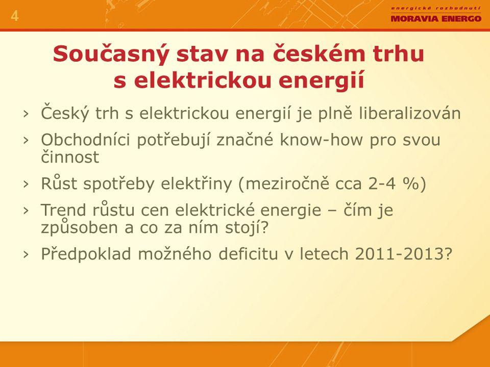Vývoj ceny pásma v České republice