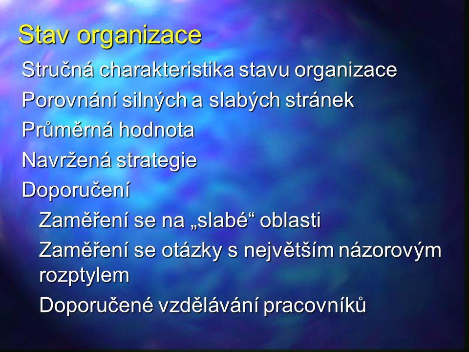 Stav organizace Stručná charakteristika stavu organizace