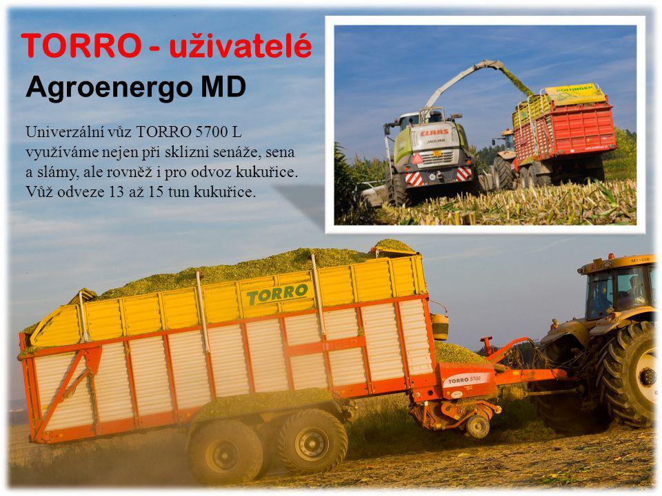 TORRO - uživatelé Agroenergo MD