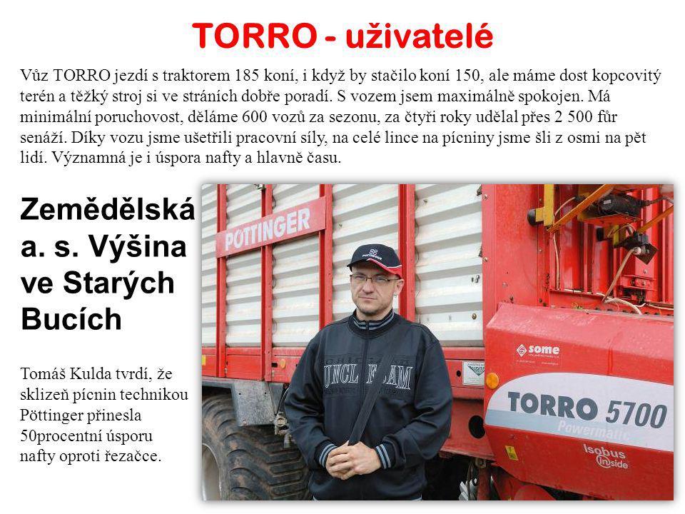 TORRO - uživatelé Zemědělská a. s. Výšina ve Starých Bucích