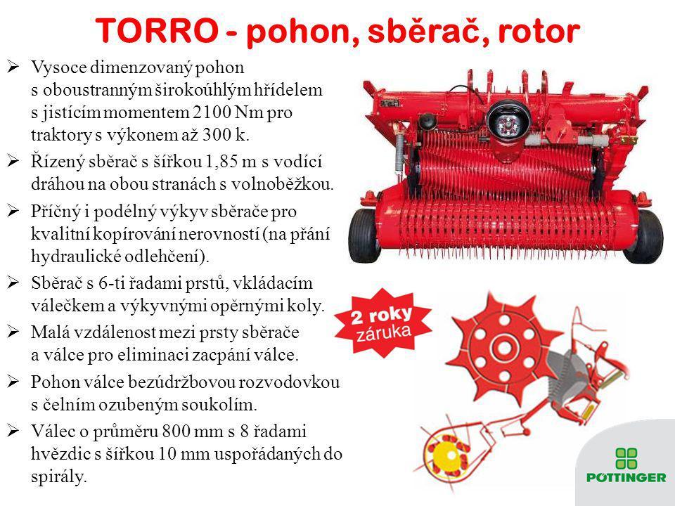 TORRO - pohon, sběrač, rotor