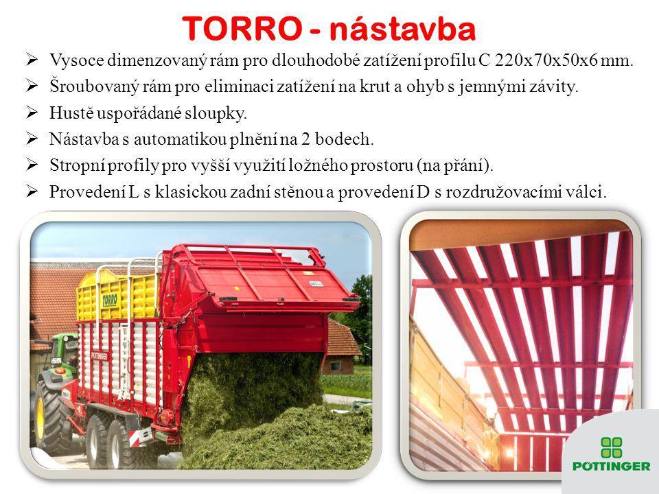 TORRO - nástavba Vysoce dimenzovaný rám pro dlouhodobé zatížení profilu C 220x70x50x6 mm.