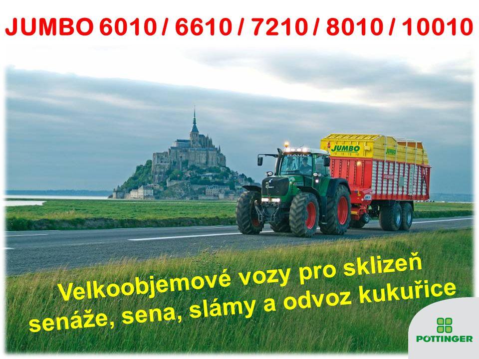 Velkoobjemové vozy pro sklizeň senáže, sena, slámy a odvoz kukuřice