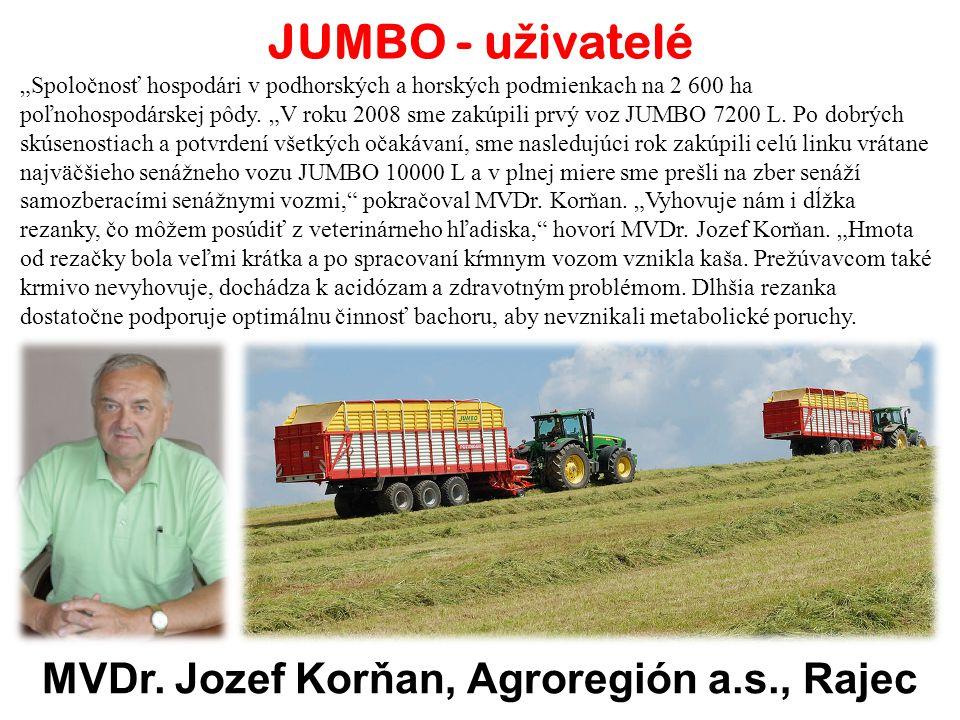 MVDr. Jozef Korňan, Agroregión a.s., Rajec