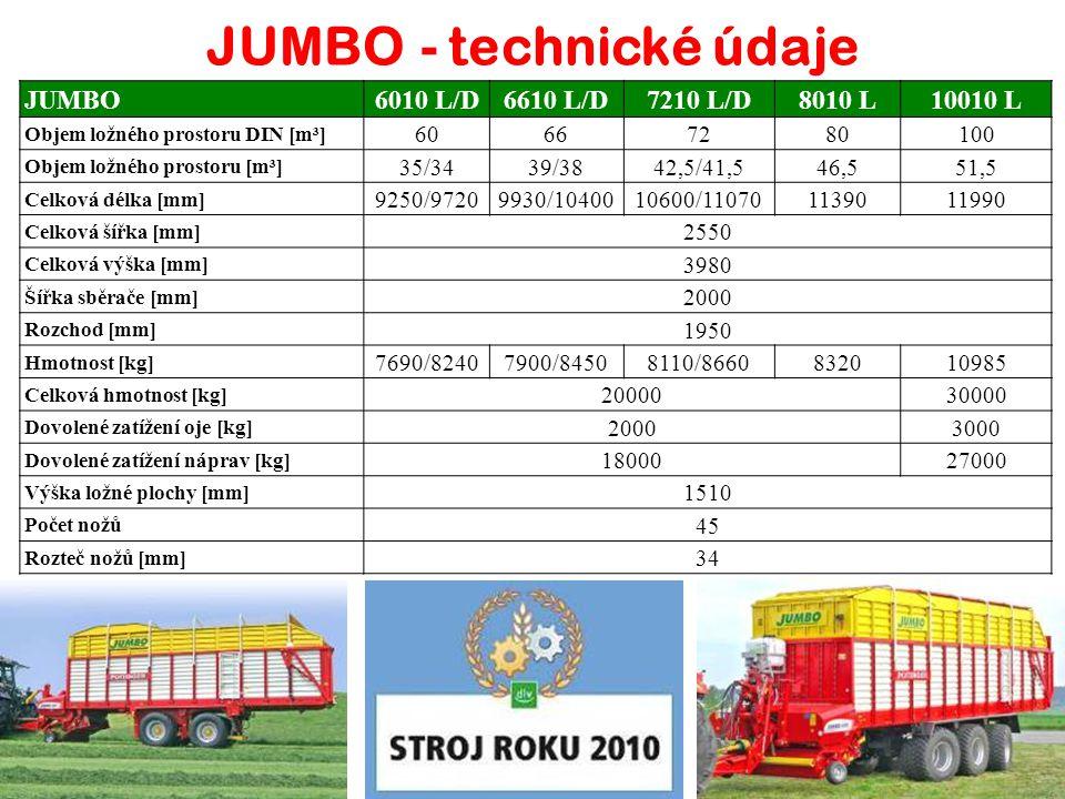 JUMBO - technické údaje