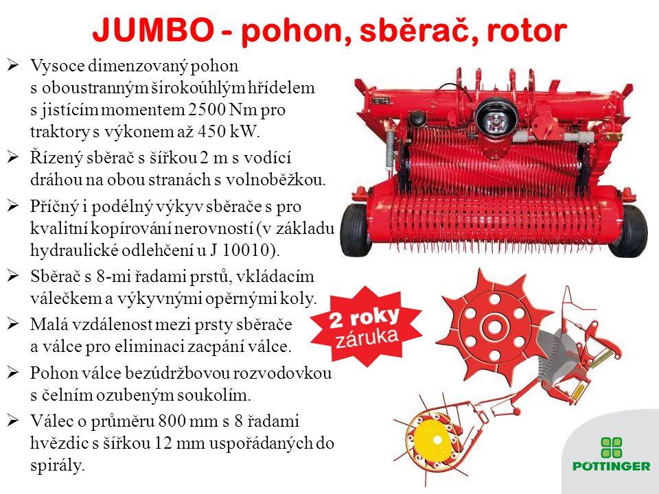 JUMBO - pohon, sběrač, rotor