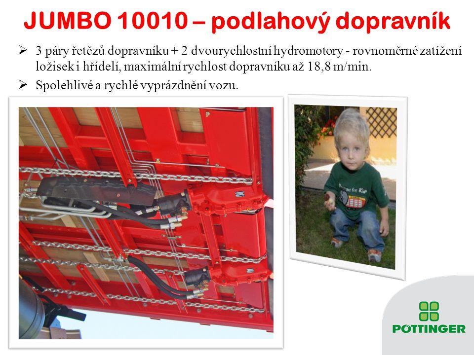 JUMBO 10010 – podlahový dopravník