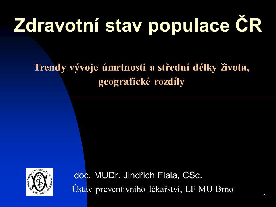 Zdravotní stav populace ČR