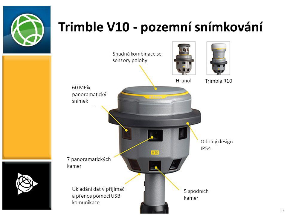 Trimble V10 - pozemní snímkování