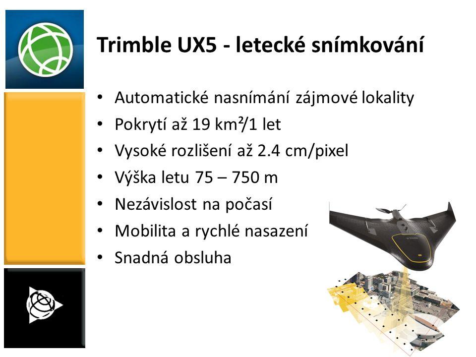 Trimble UX5 - letecké snímkování
