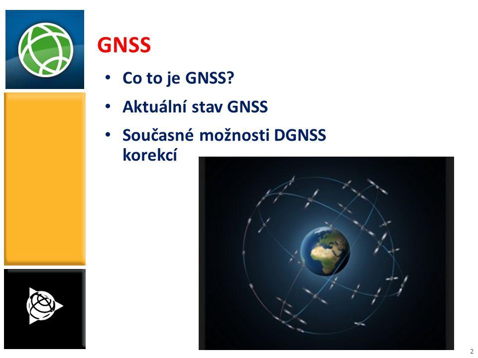 GNSS Co to je GNSS Aktuální stav GNSS Současné možnosti DGNSS korekcí