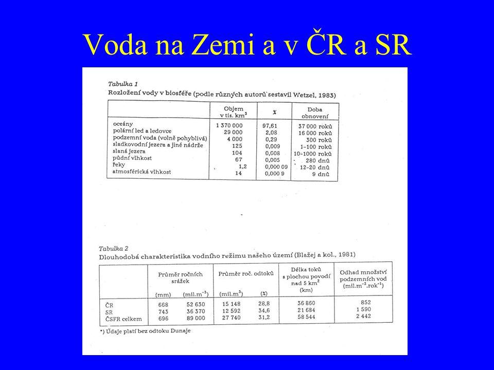 Voda na Zemi a v ČR a SR
