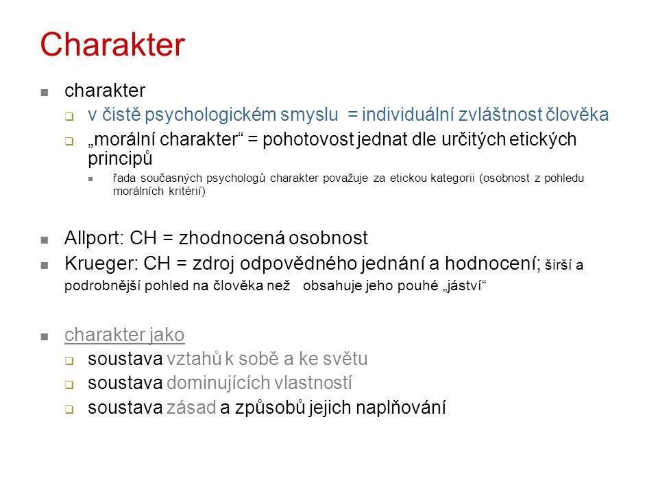 Charakter charakter Allport: CH = zhodnocená osobnost