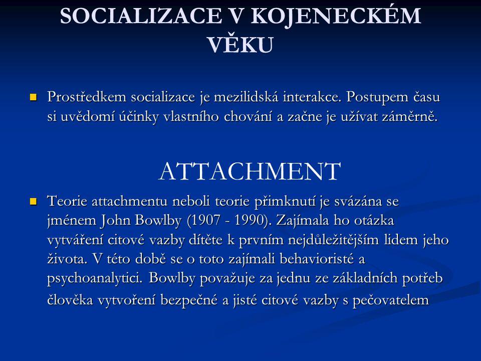SOCIALIZACE V KOJENECKÉM VĚKU