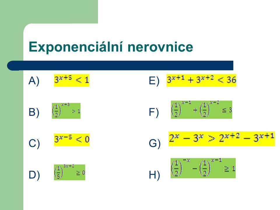 Exponenciální nerovnice