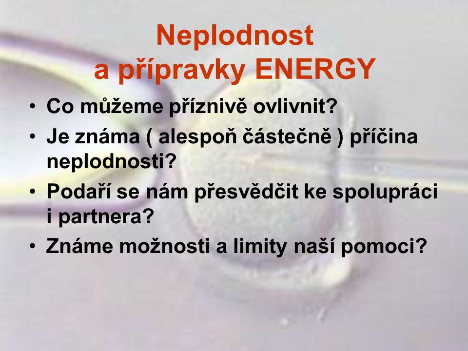 Neplodnost a přípravky ENERGY