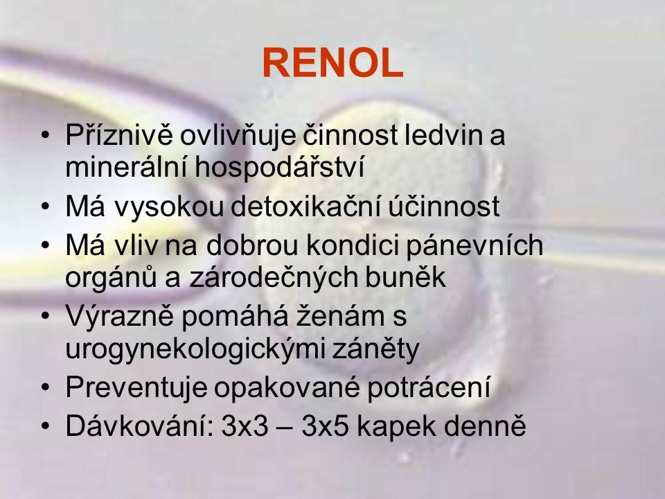 RENOL Příznivě ovlivňuje činnost ledvin a minerální hospodářství