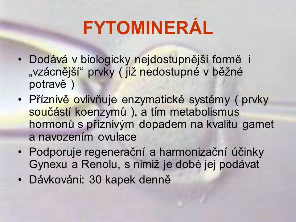 """FYTOMINERÁL Dodává v biologicky nejdostupnější formě i """"vzácnější prvky ( již nedostupné v běžné potravě )"""