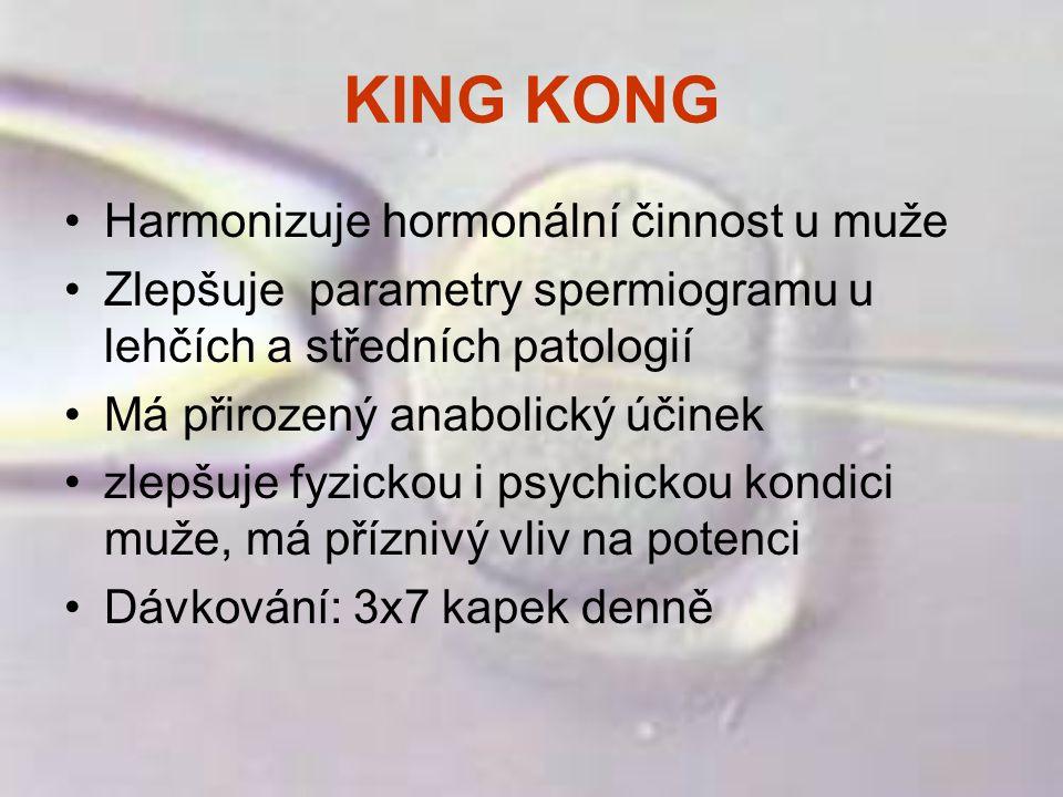 KING KONG Harmonizuje hormonální činnost u muže