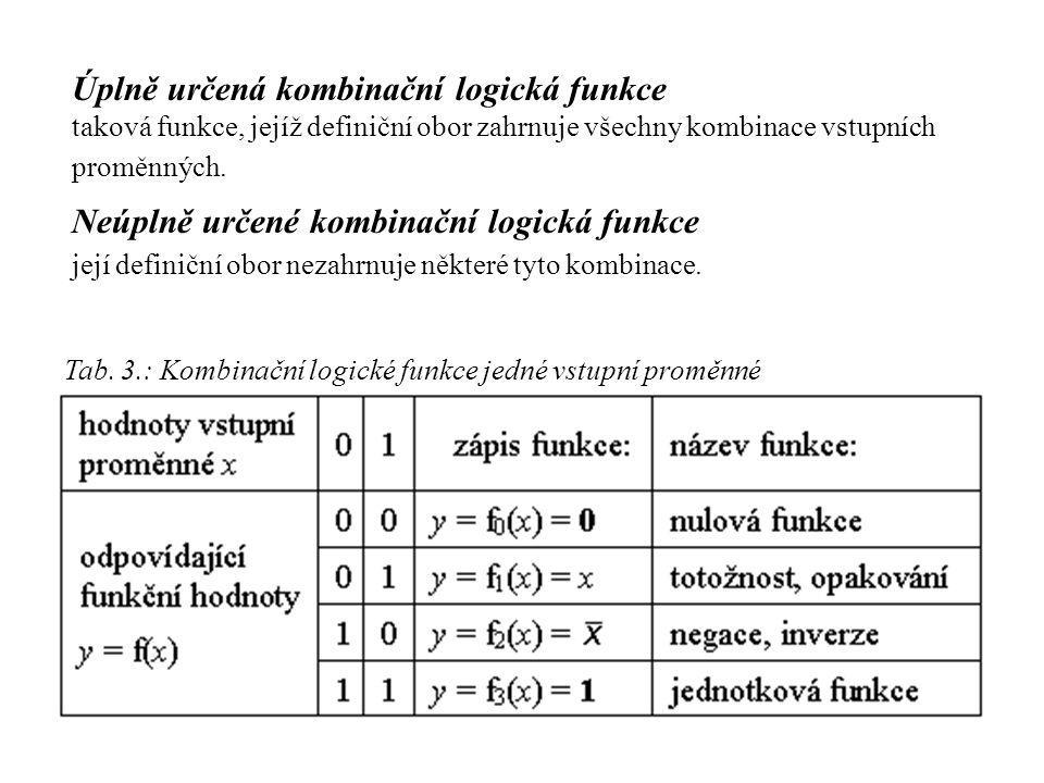 Úplně určená kombinační logická funkce