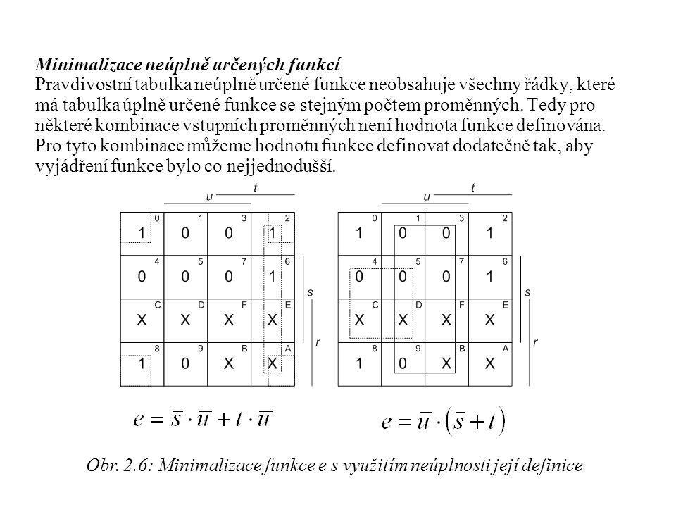 Minimalizace neúplně určených funkcí