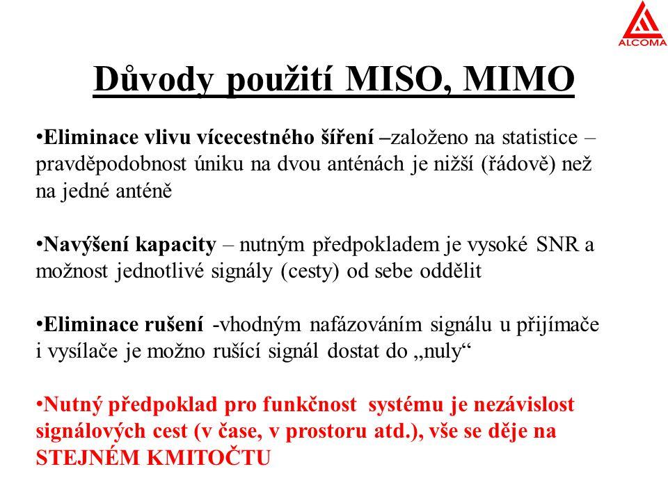 Důvody použití MISO, MIMO