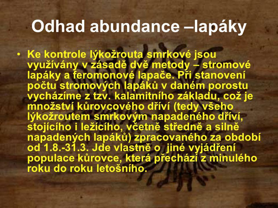 Odhad abundance –lapáky