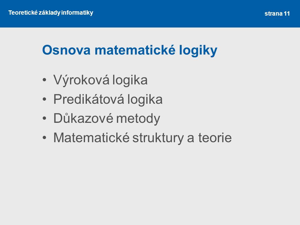 Osnova matematické logiky