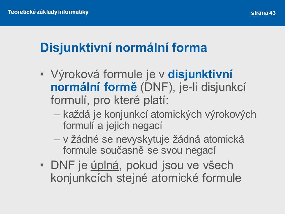 Disjunktivní normální forma