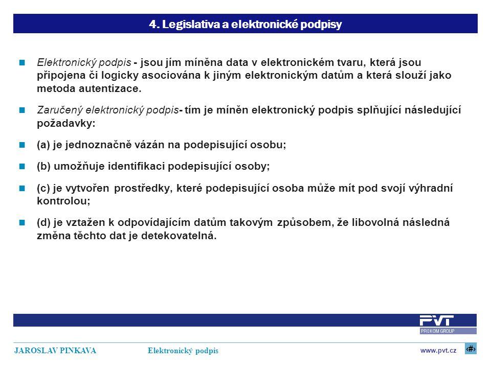 4. Legislativa a elektronické podpisy