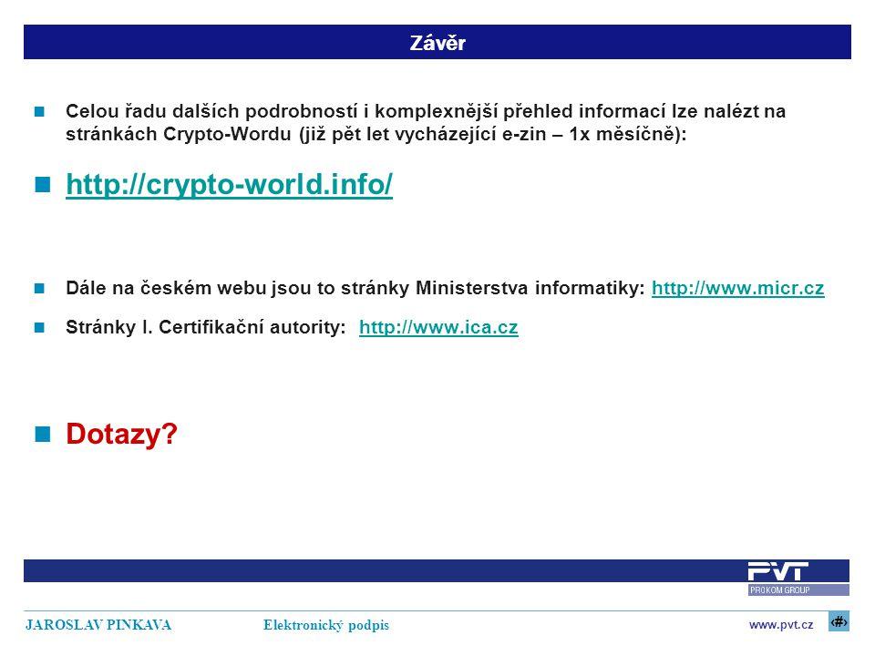 http://crypto-world.info/ Dotazy Závěr